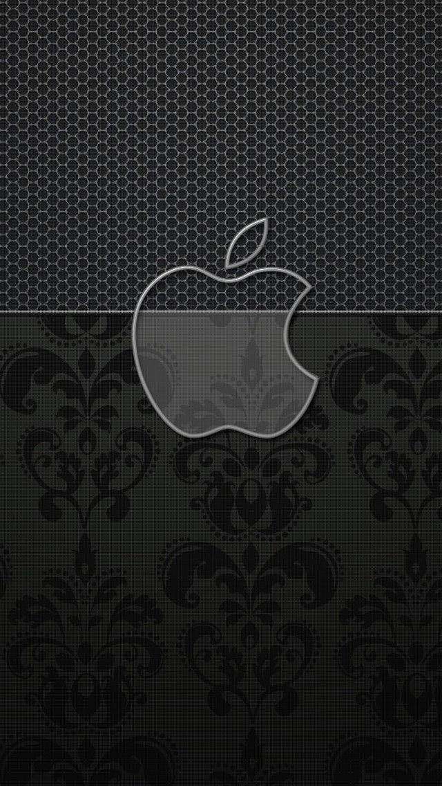 高級感のあるアップルロゴ iPhone5 スマホ用壁紙