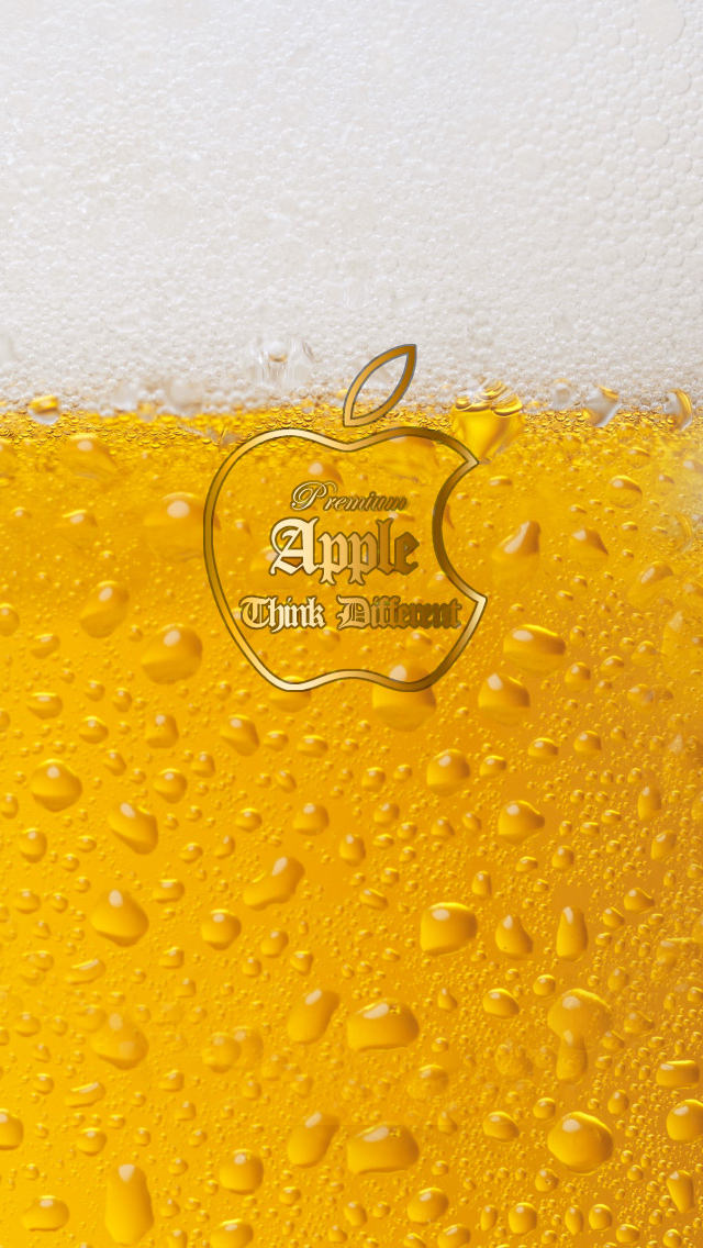 Appleビール iPhone5 スマホ用壁紙