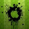 緑のアップルロゴ iPhone5 スマホ用壁紙