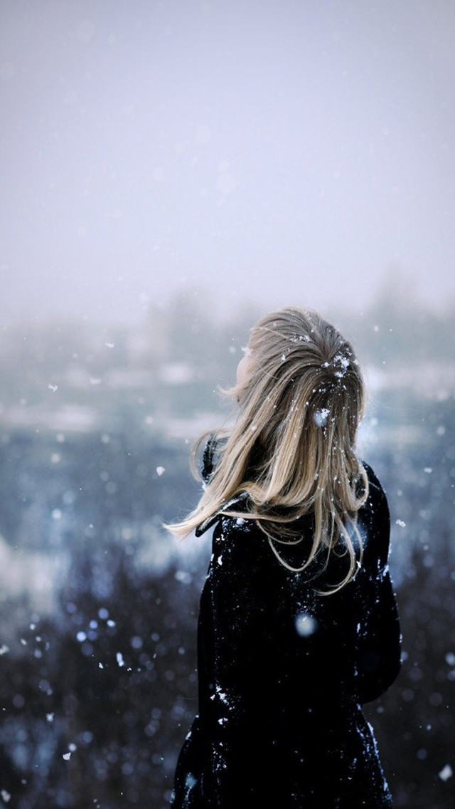 冬景色 iPhone5 スマホ用壁紙