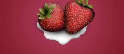 苺 iPhone5 スマホ用壁紙