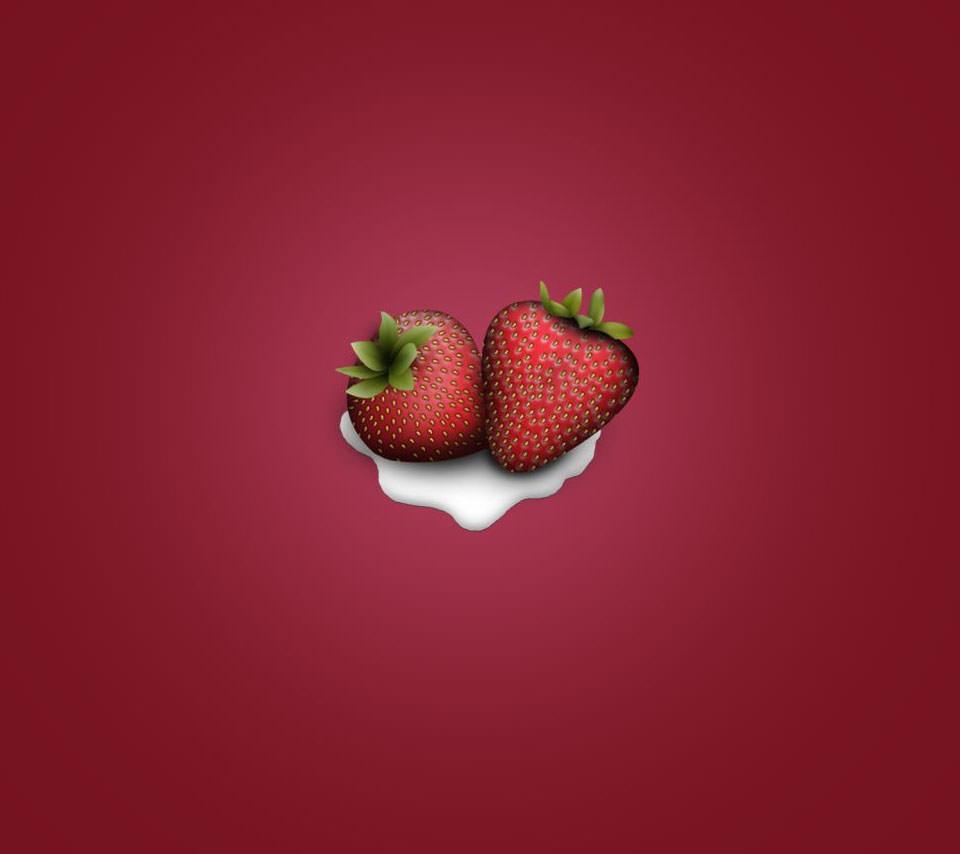 苺ミルク Androidスマホ用壁紙