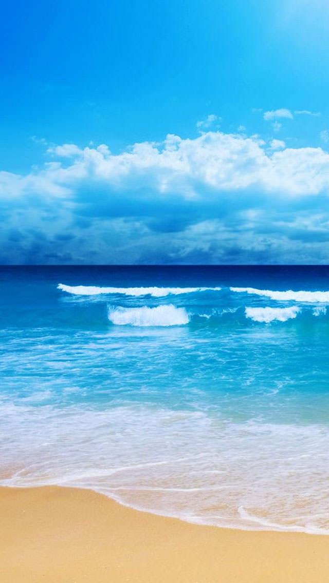 夏のビーチ iPhone5 スマホ用壁紙