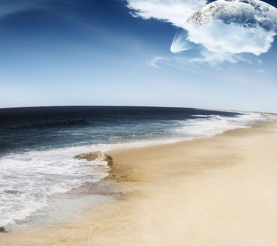 水の惑星 Androidスマホ用壁紙
