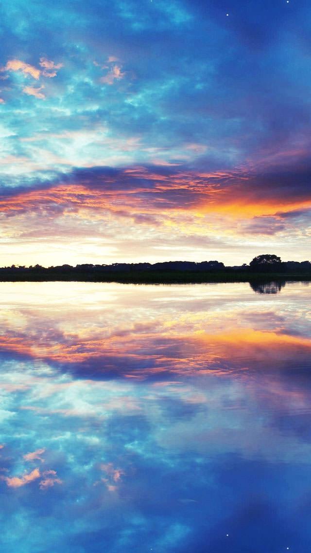 ウユニ湖 iPhone5 スマホ用壁紙