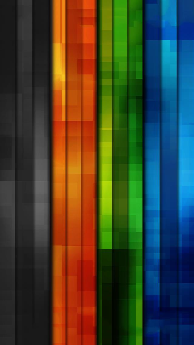 レインボーグラデーション iPhone5 スマホ用壁紙