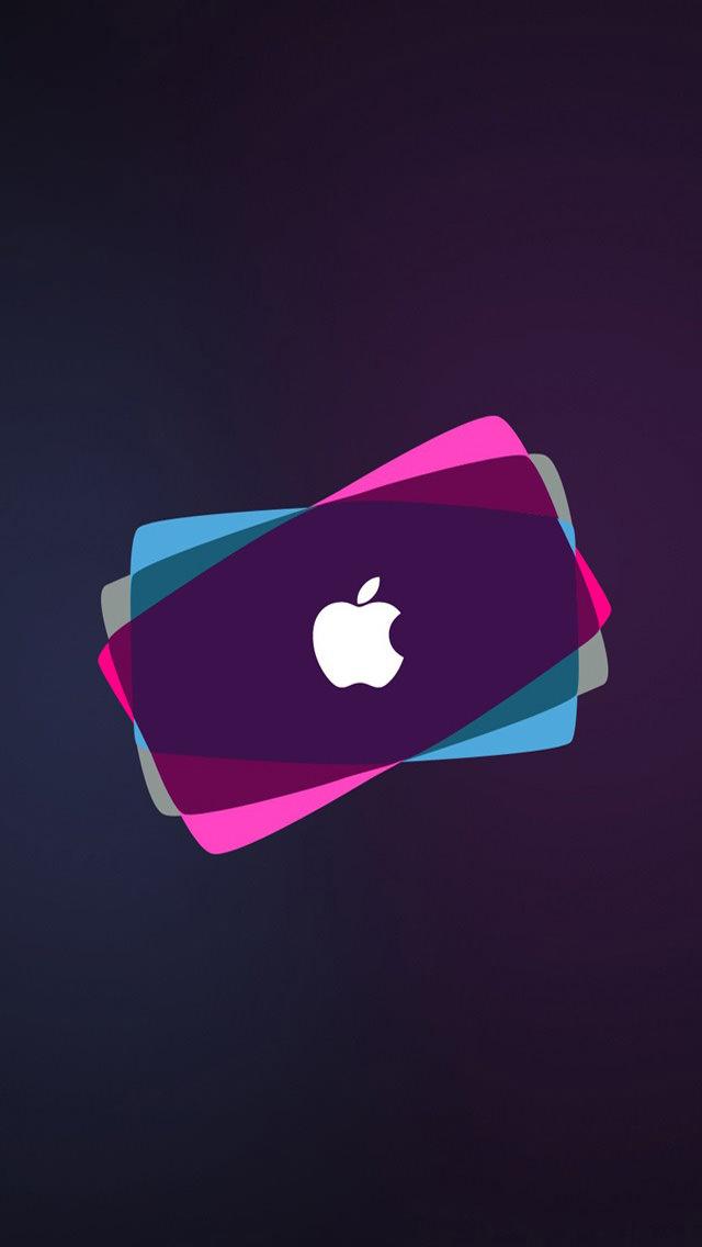 オシャレなアップルロゴ iPhone5 スマホ用壁紙