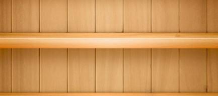 シンプルな棚 iPhone5 スマホ用壁紙