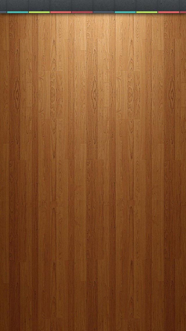 ライトアップされたウッド調のiPhone5 スマホ用壁紙