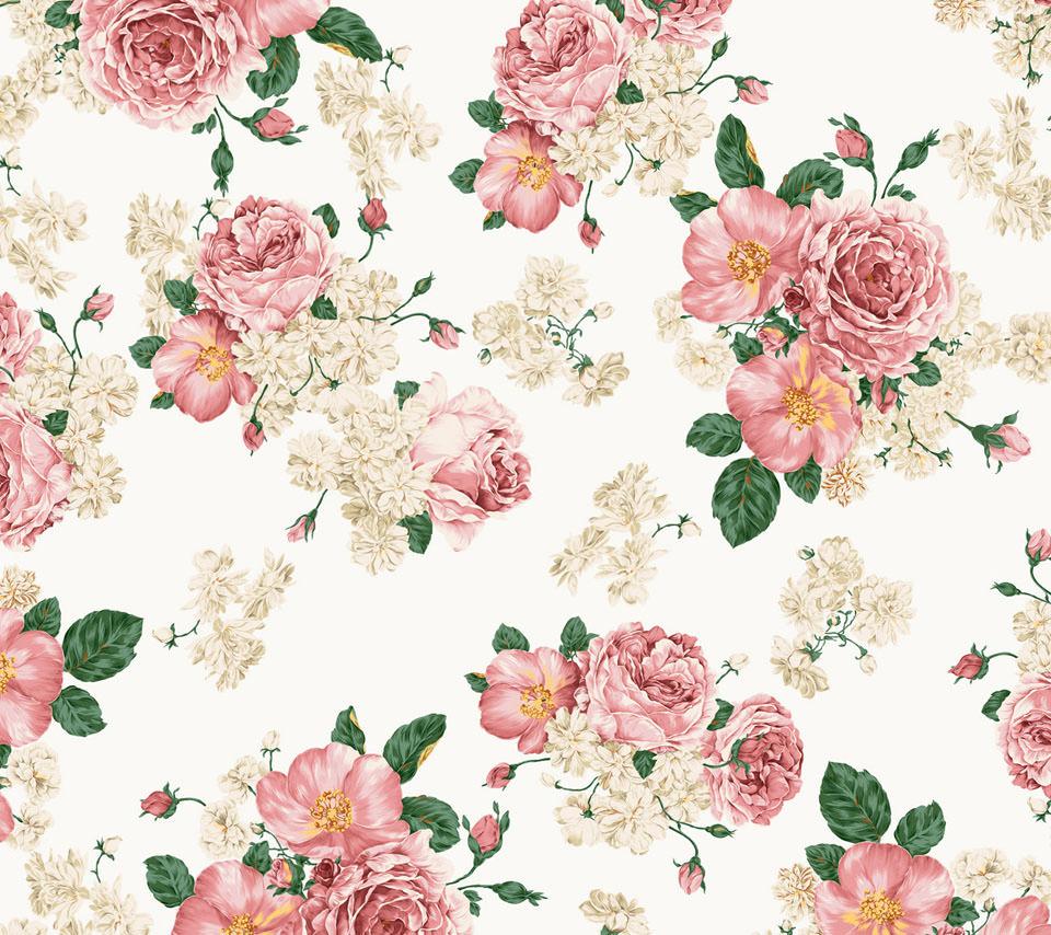 綺麗な花柄 Androidスマホ用壁紙 Wallpaperbox