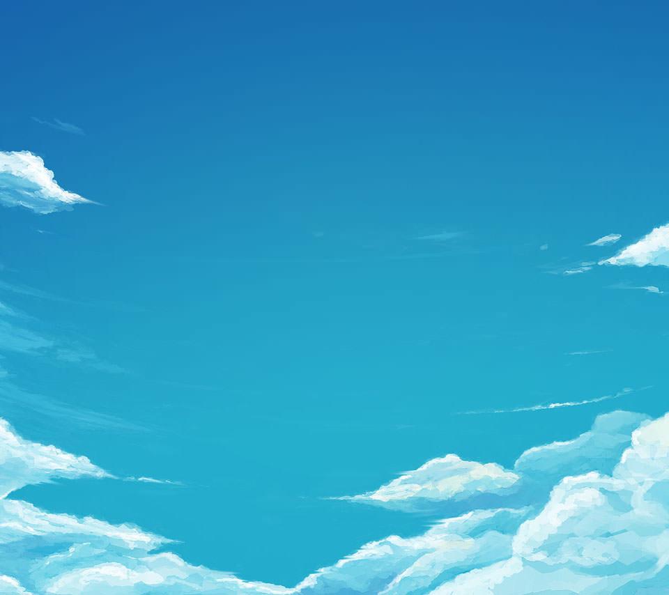 澄んだ青空 Androidスマホ用壁紙