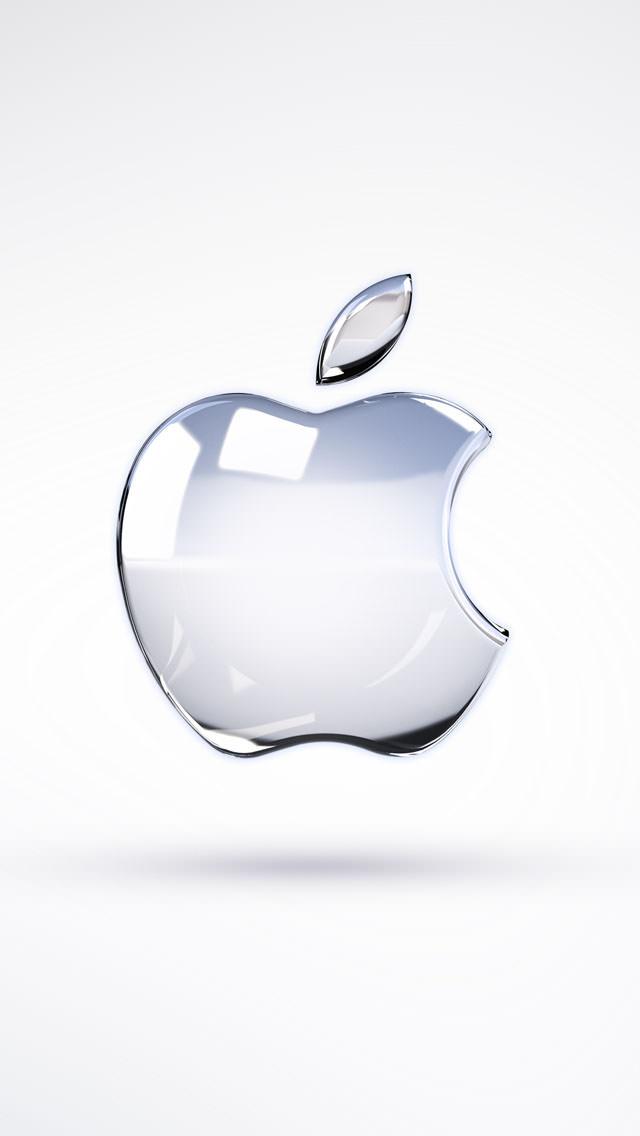 クリスタルのアップルロゴ iPhone5 スマホ用壁紙