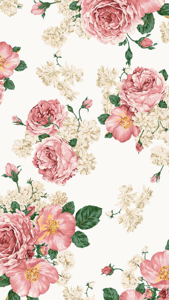 ★ガーリー・フラワー Iphone5 スマホ用壁紙 Wallpaperbox かわいい&おしゃれiphone