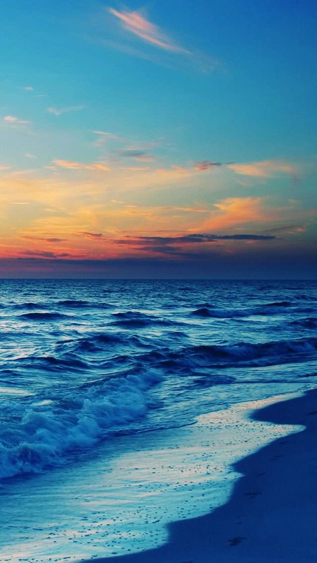 冬の潮騒 iPhone5 スマホ用壁紙