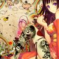 かわいい着物の少女 Androidスマホ用壁紙