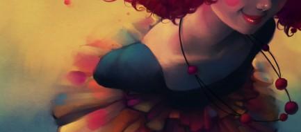 赤い髪の少女 Androidスマホ用壁紙