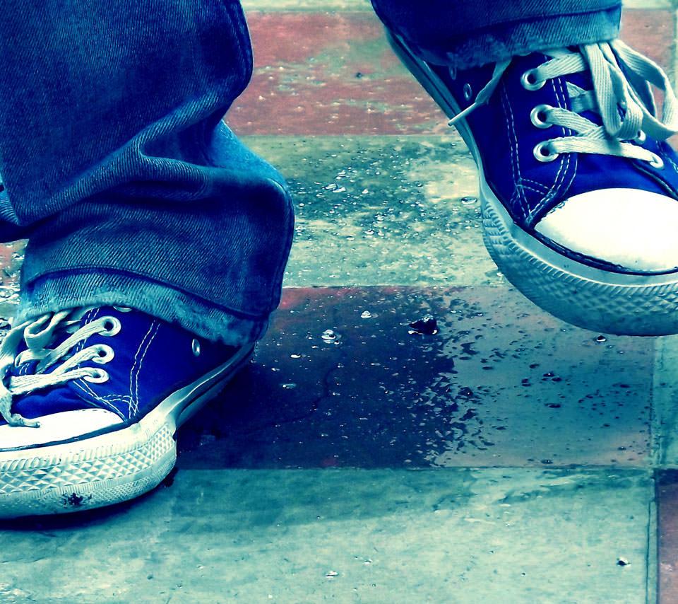 青い靴 Androidスマホ用壁紙