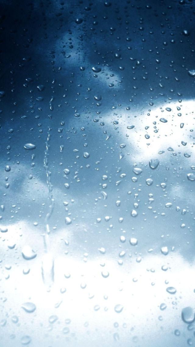 水滴のついたガラス iPhone5 スマホ用壁紙