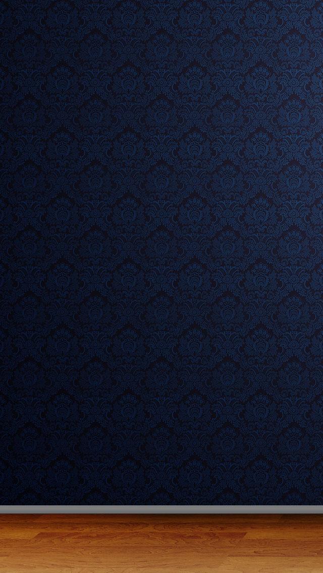 高級感のある青のiPhone5 スマホ用壁紙
