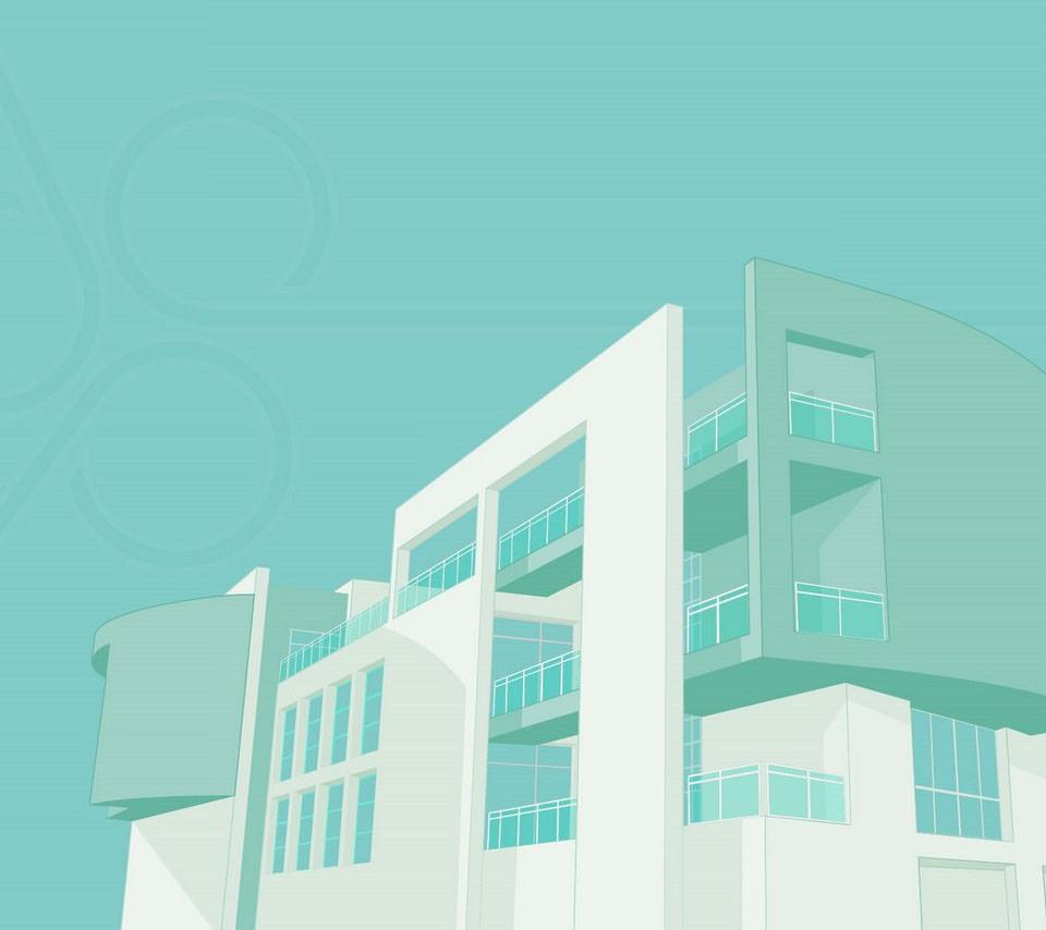 青の建造物 Androidスマホ用壁紙