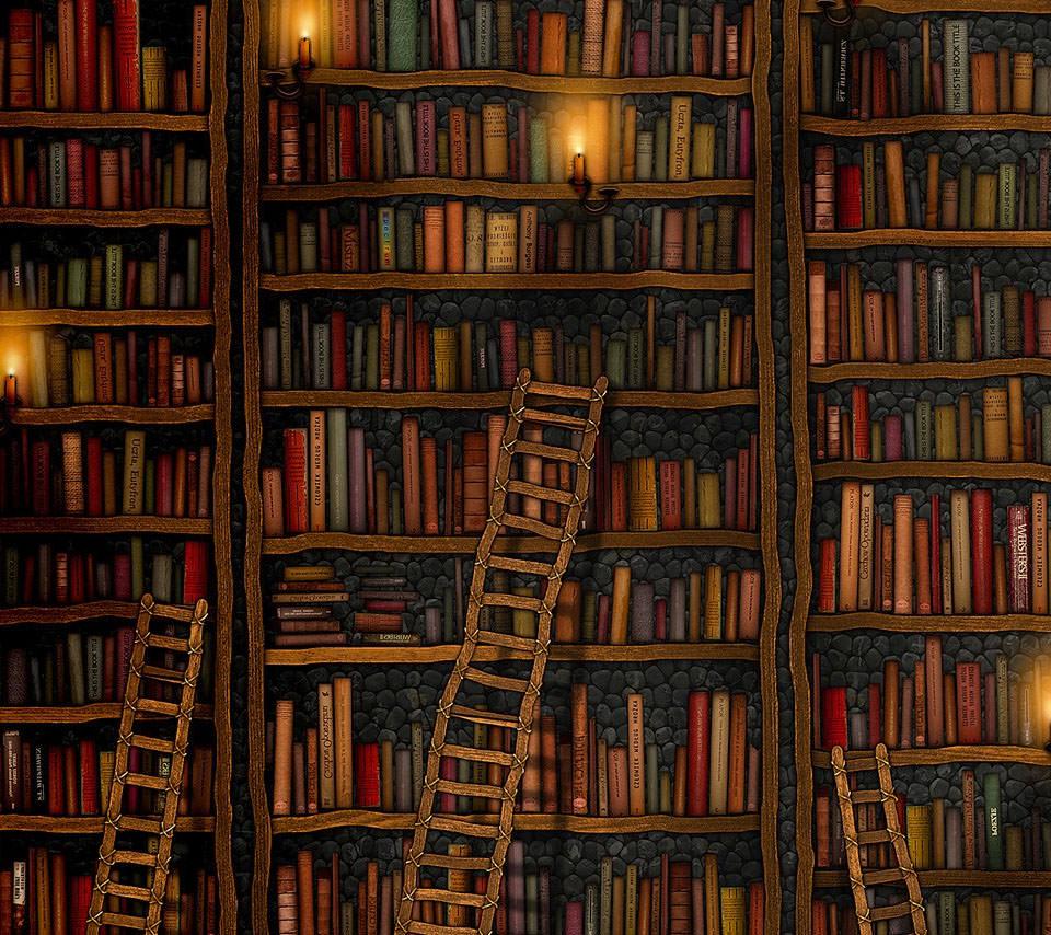 図書館 Androidスマホ用壁紙