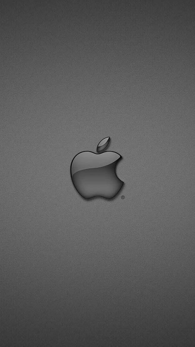 かっこいい黒のAppleロゴ iPhone5 スマホ用壁紙