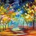 秋の銀杏並木 Androidスマホ用壁紙
