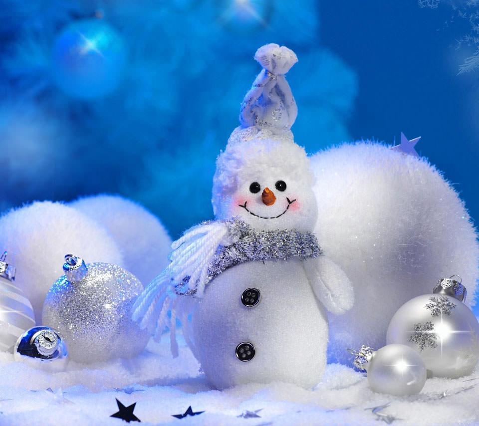 かわいい雪だるま Androidスマホ用壁紙
