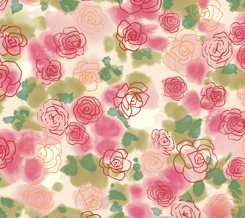 かわいいピンクローズ Androidスマホ用壁紙