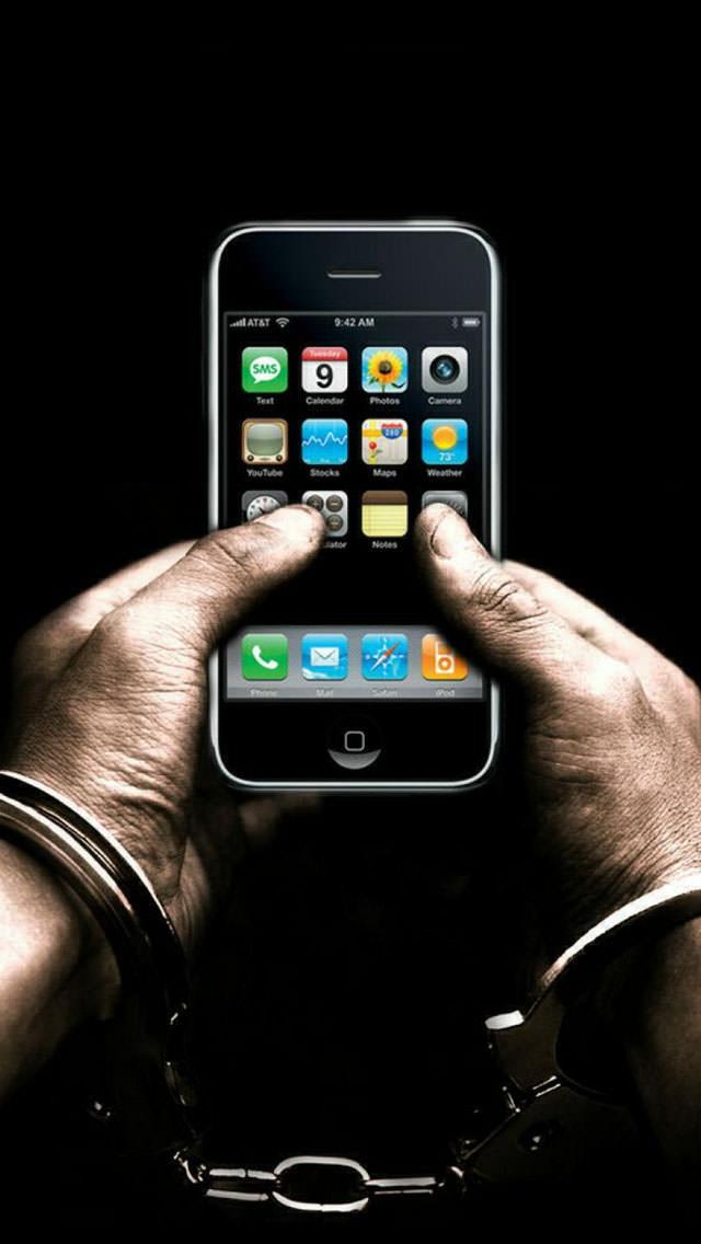 iPhone禁止 iPhone5 スマホ用壁紙