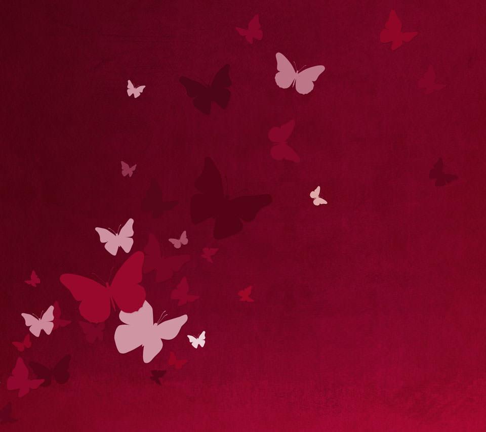 蝶が舞うAndroidスマホ壁紙