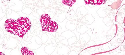 ピンクのハートのレリーフ Androidスマホ壁紙