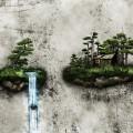 盆栽の滝 Androidスマホ壁紙