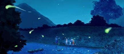 蛍が舞う風景 Androidスマホ壁紙