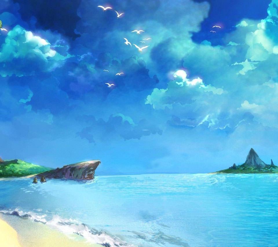 Summer Seaside Androidスマホ壁紙
