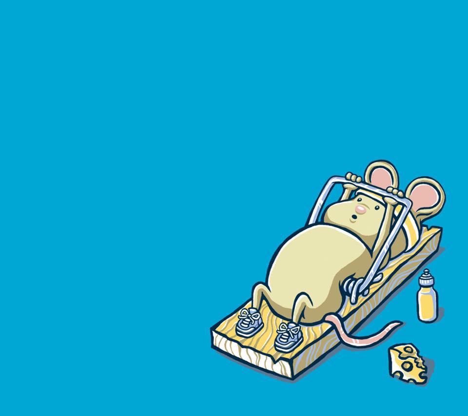 ネズミの筋トレ Androidスマホ壁紙
