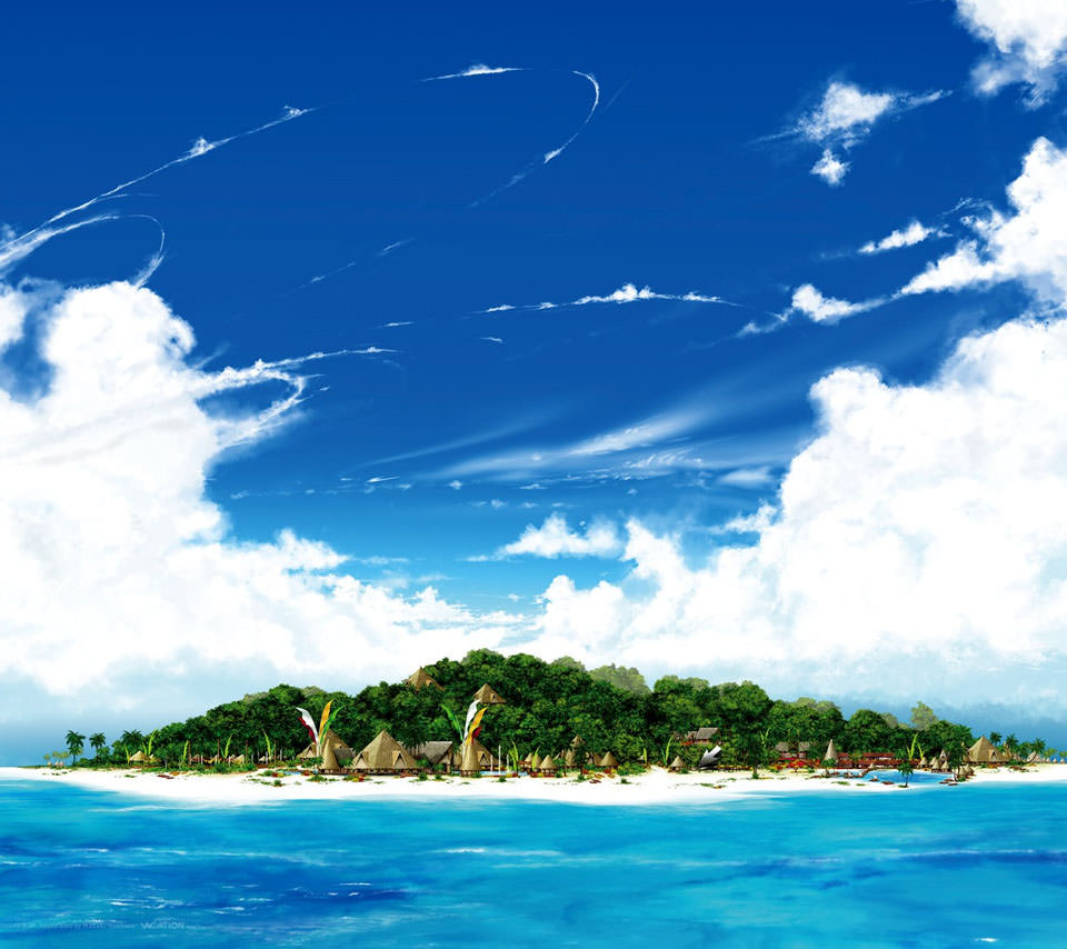 Beautiful Ocean Island Androidスマホ壁紙
