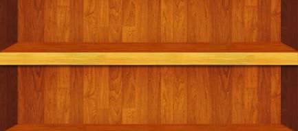 ライトアップされた木の棚 iPhone5 スマホ用壁紙