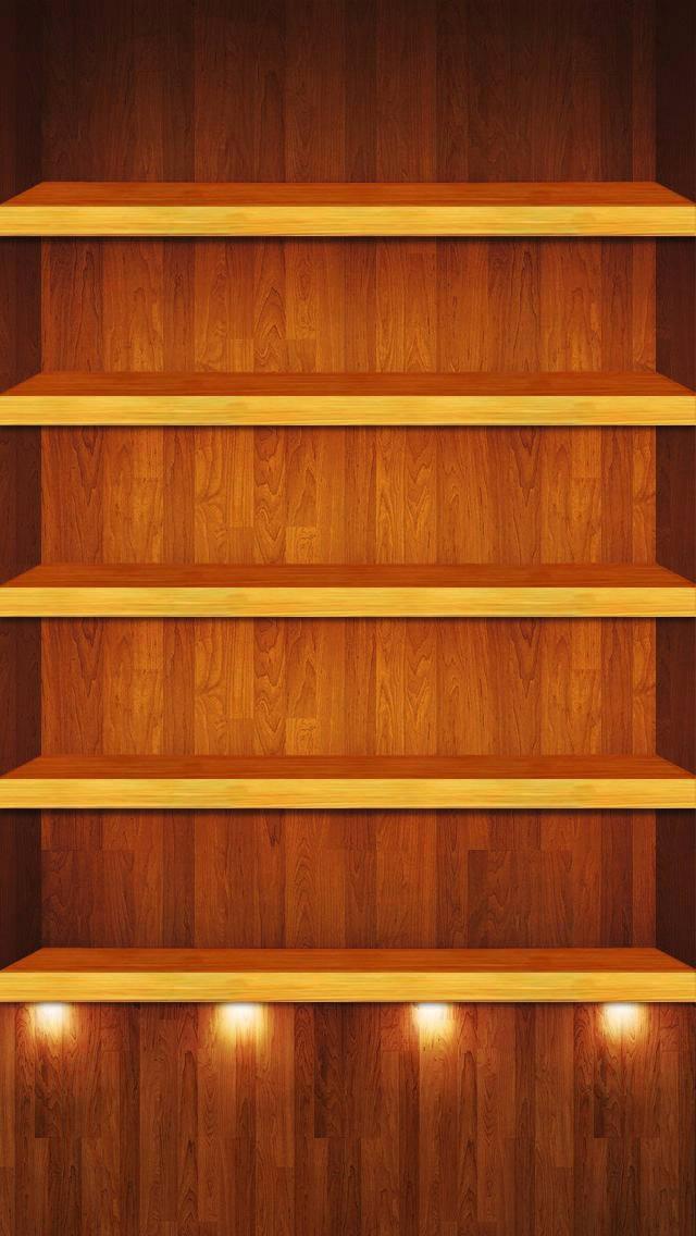 Phone Wallpaper Bookshelf