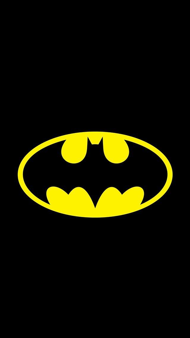 Batman Logo iPhone5 スマホ用壁紙