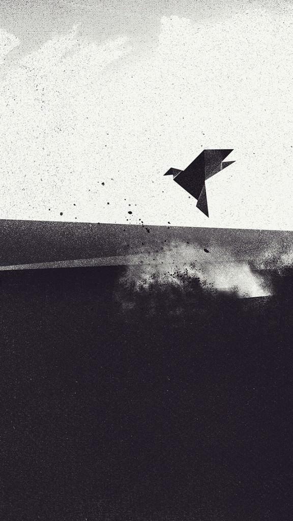 Art Bird iPhone5 スマホ用壁紙