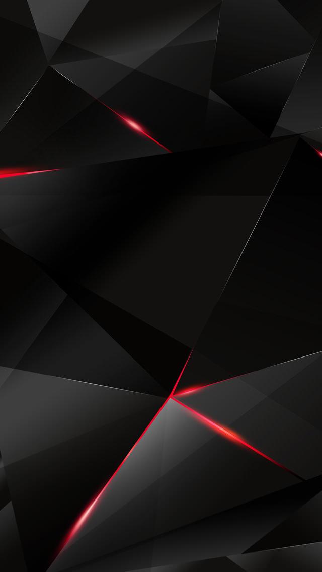黒のトライアングル iPhone5 スマホ用壁紙
