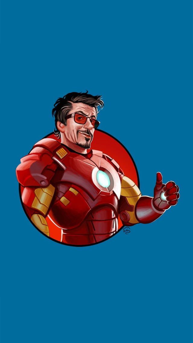 I'm Ironman iPhone5 スマホ用壁紙
