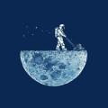 月の開発 iPhone5 スマホ用壁紙