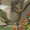 幻想の街 iPhone5 スマホ用壁紙