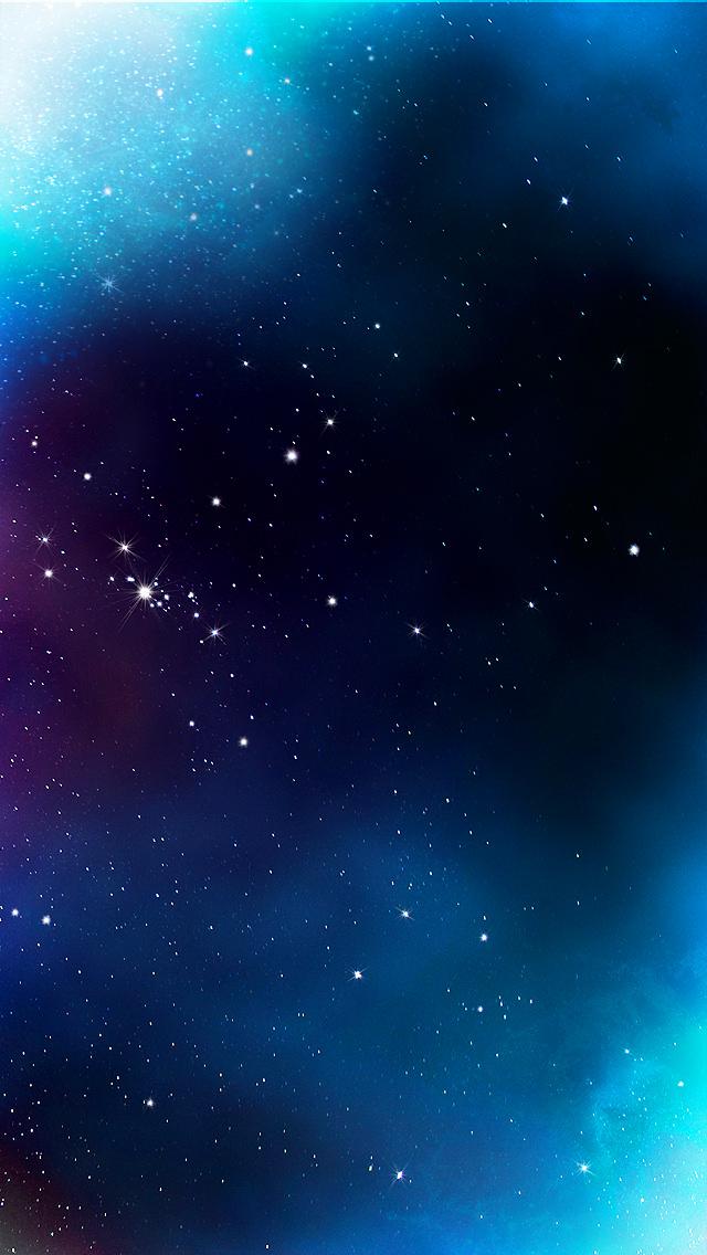 Blue Galaxy iPhone5 スマホ用壁紙