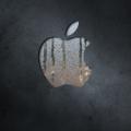 水滴のあるアップルロゴ iPhone5 スマホ用壁紙