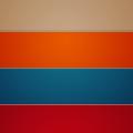カラフルなボーダー iPhone5 スマホ用壁紙