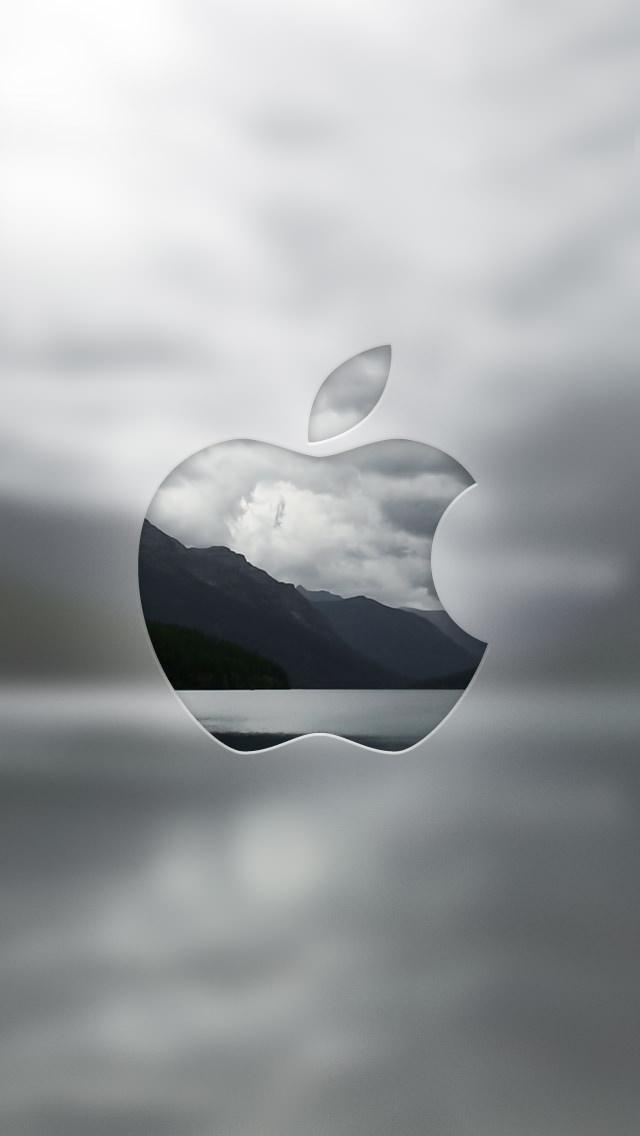 リンゴ型の風景 iPhone5 スマホ用壁紙