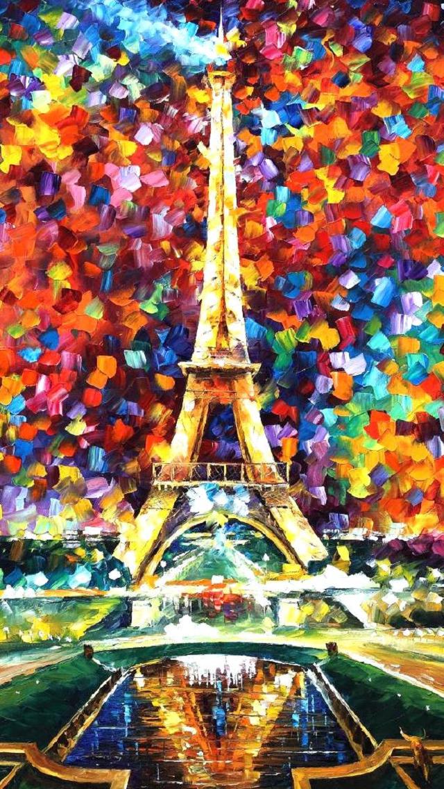パリのエッフェル塔 iPhone5 スマホ用壁紙